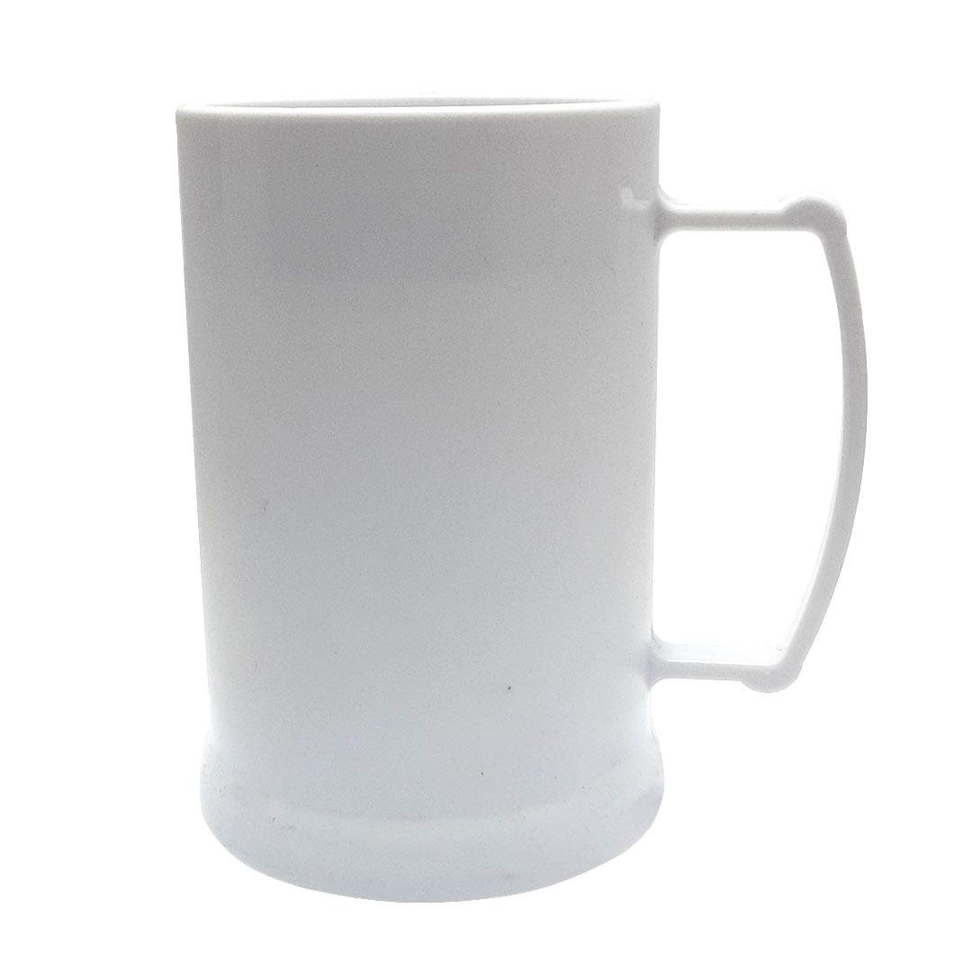 Caneca de Acrilíco c/ Gel Branca - 300ml