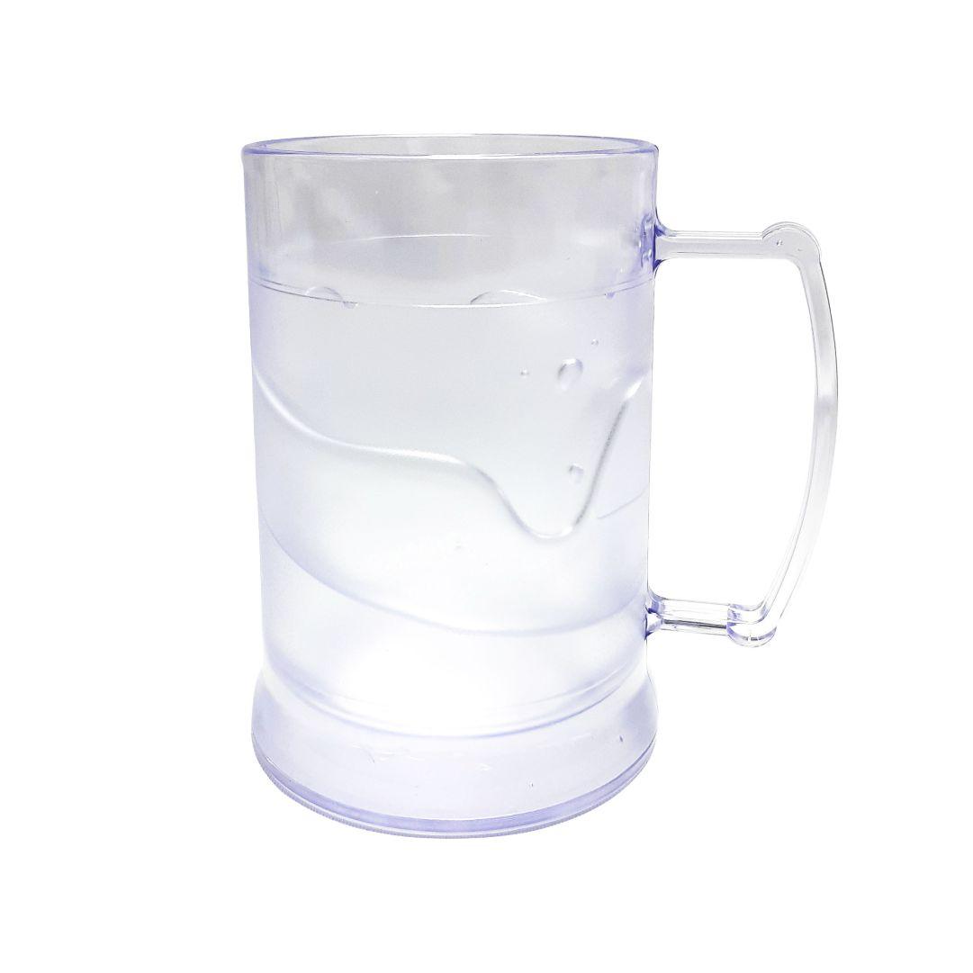 Caneca de Acrilíco c/ Gel - Transparente - 300ml