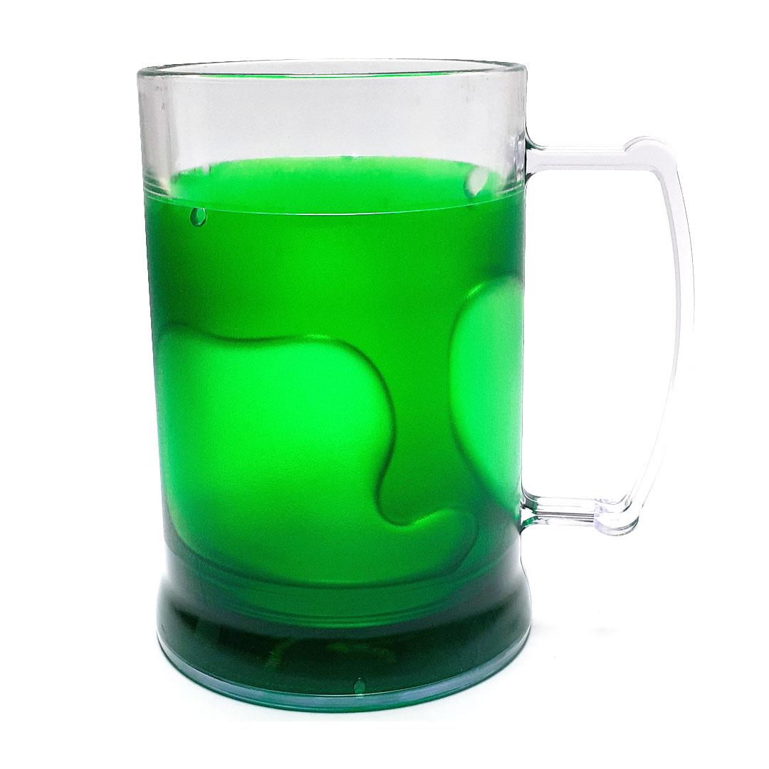 Caneca de Acrilíco c/ Gel Verde - 300ml