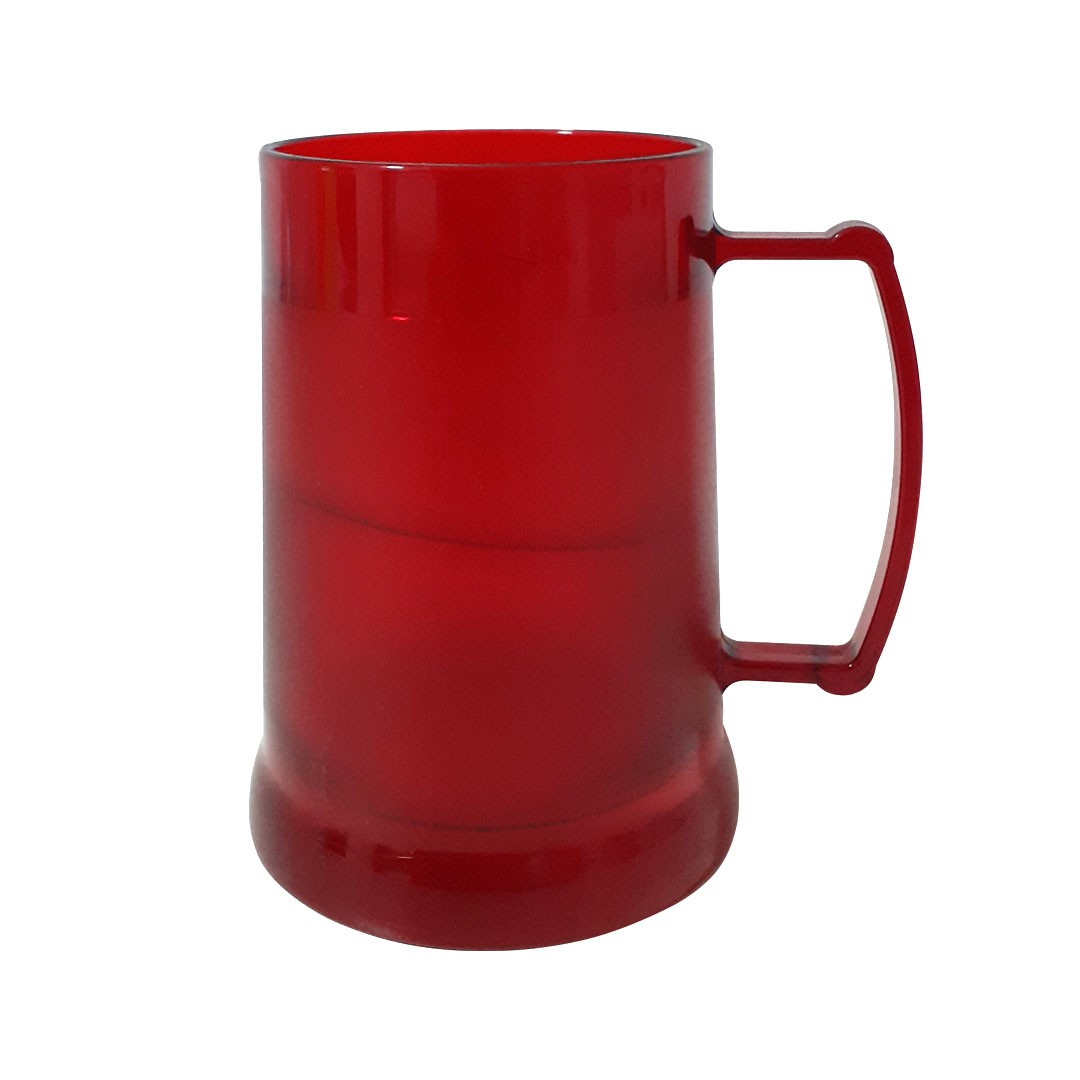 Caneca de Acrilíco c/ Gel - Vermelha - 300ml
