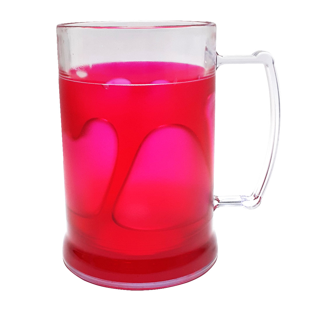 Caneca de Acrilíco c/ Gel Vermelho - 300ml
