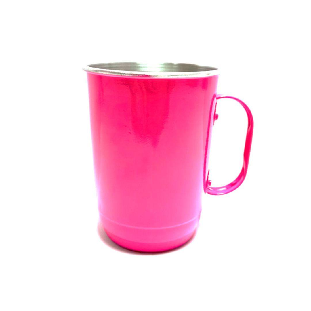 Caneca de Alumínio Para Transfer - 700ml Rosa Pink