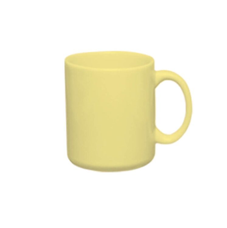 Caneca de Cerâmica Amarela Para Sublimação - Sublime - 300ml