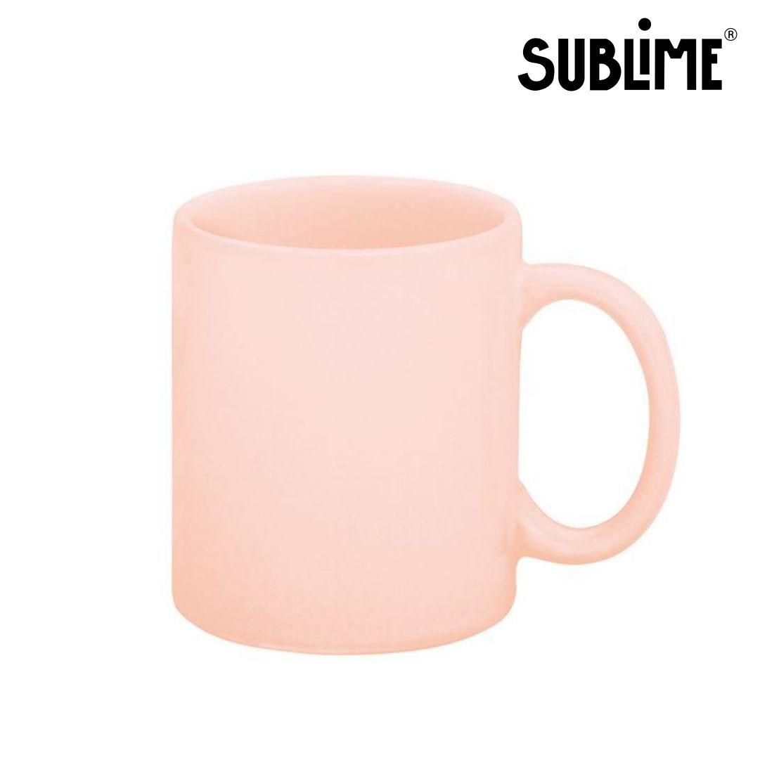Caneca de Cerâmica Rosa Para Sublimação - Sublime - 300ml