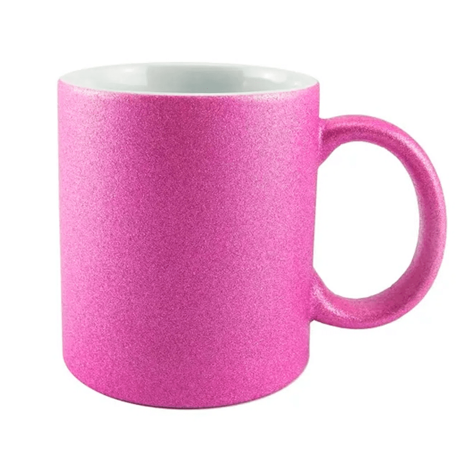 Caneca de Cerâmica Texturizada Com Glitter Para Sublimação - Pink - Live Sub