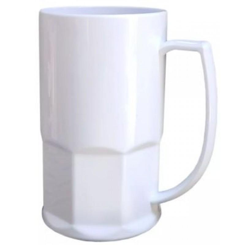 Caneca de Chopp em Polímero Para Sublimação - 500ml - Branca