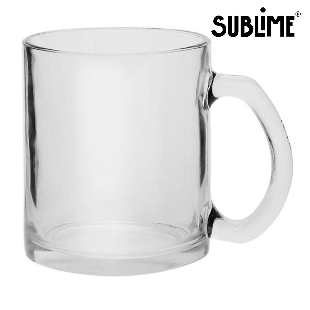 Caneca De Chopp Vidro Cristal Para Sublimação - 320ml - Sublime