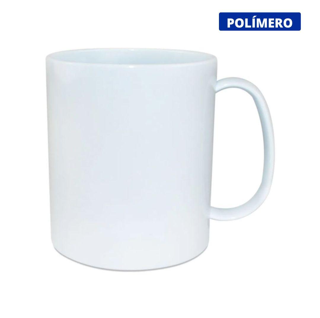 Caneca de Polímero Branca Para Sublimação - 325ml