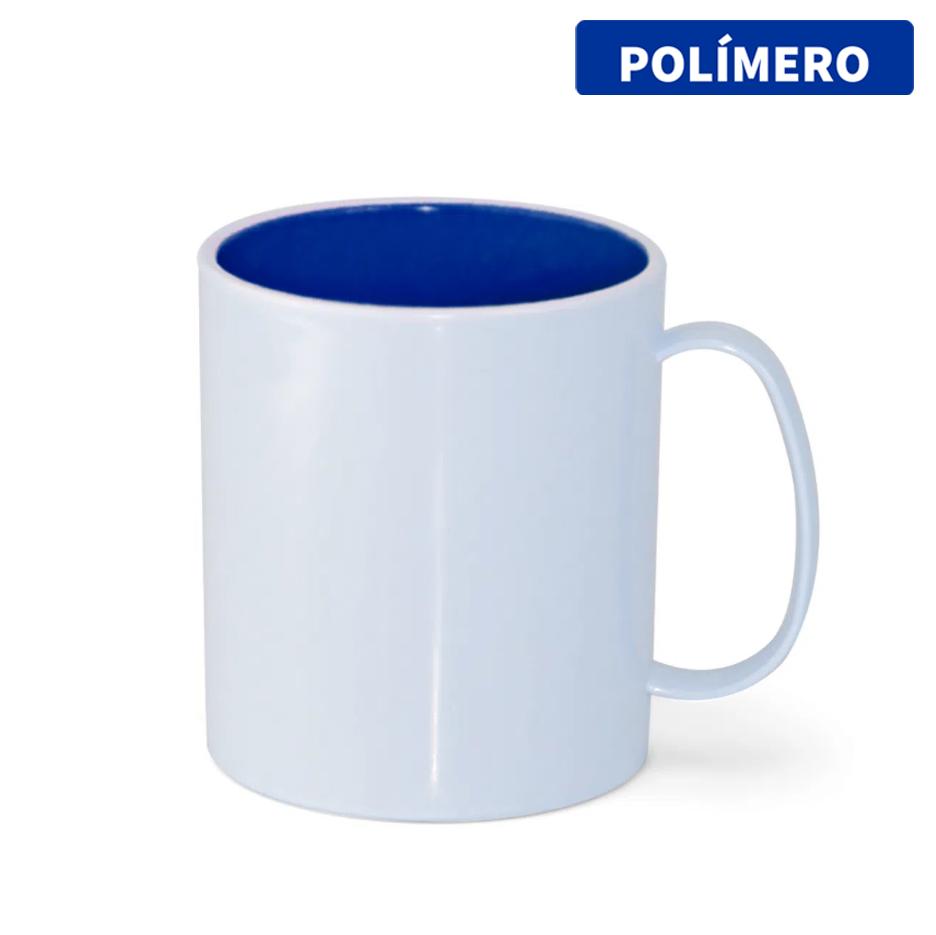 Caneca de Polímero Para Sublimação com Interior Azul Royal - 325ml