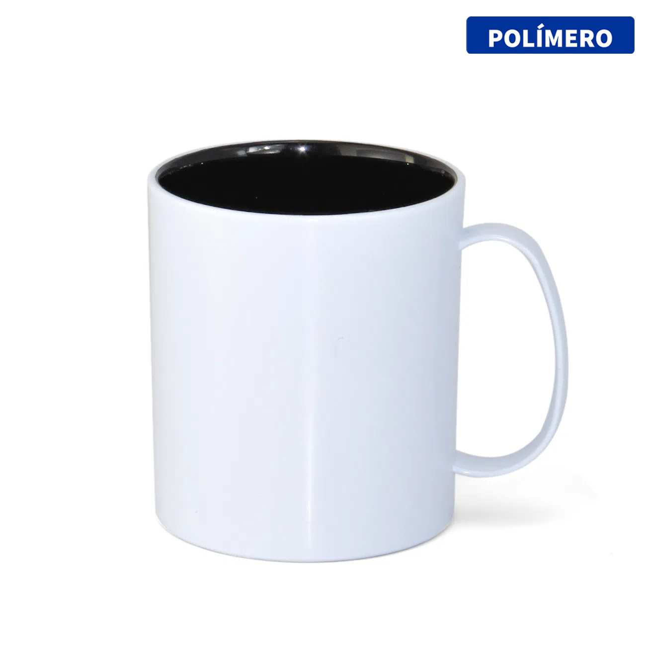 Caneca de Polímero Para Sublimação com Interior Preto - 325ml