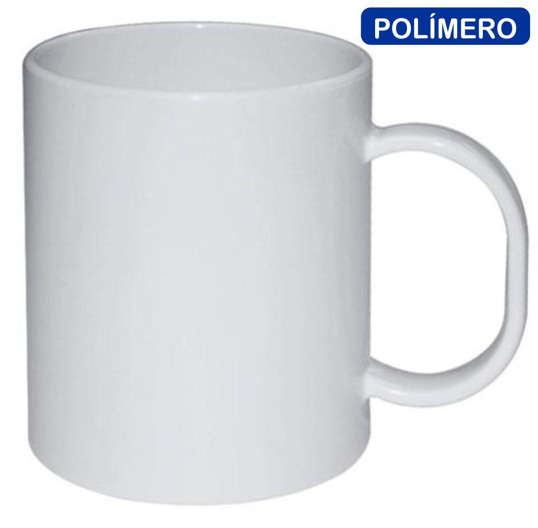 Caneca de Polímero Estar Para Sublimação Branca - 115g - 325ml