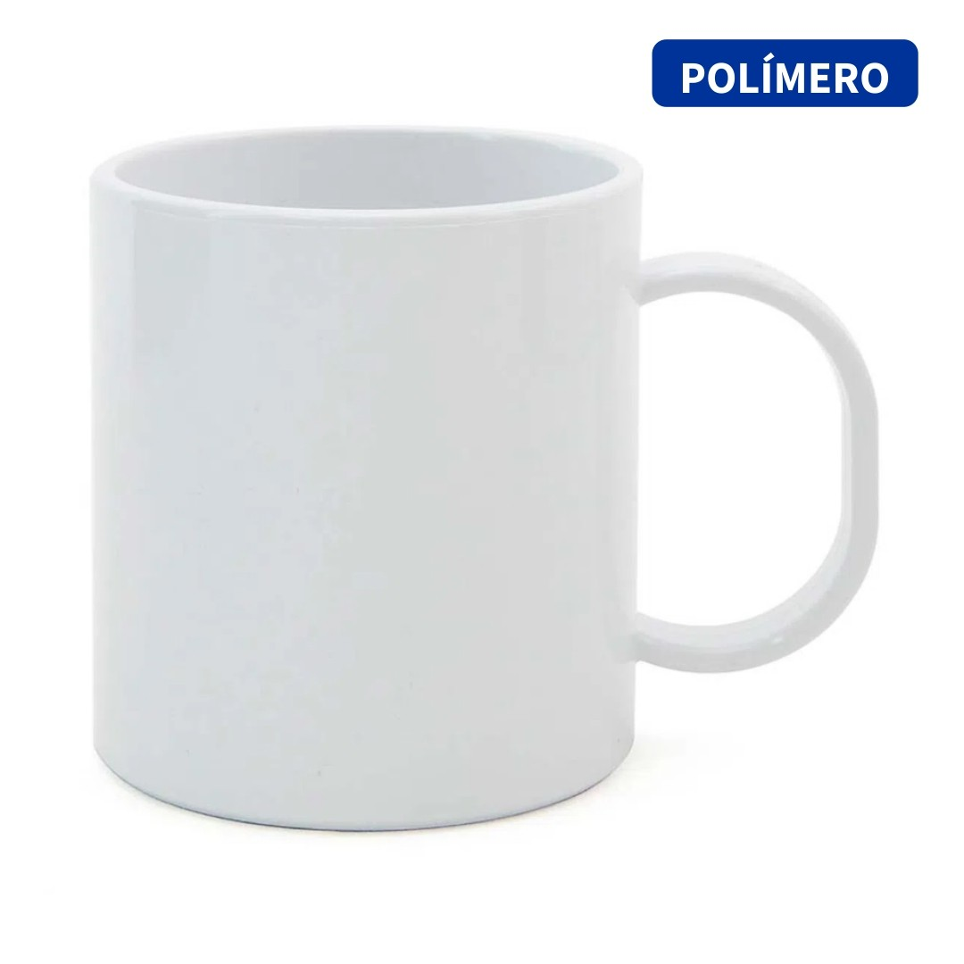 Caneca de Polímero Para Sublimação - Branca - SFCT - 140g