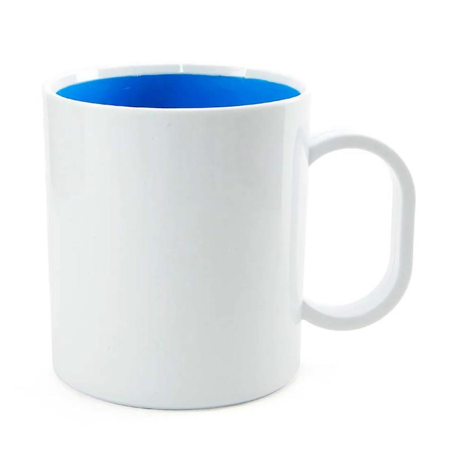 Caneca de Polímero Para Sublimação com Interior Azul - 325ml - SFCT