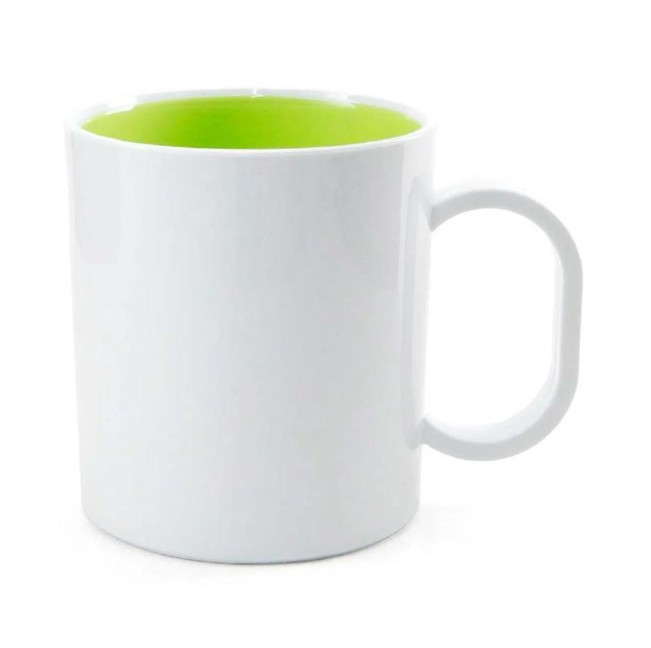 Caneca de Polímero Para Sublimação com Interior Verde Claro - 325ml