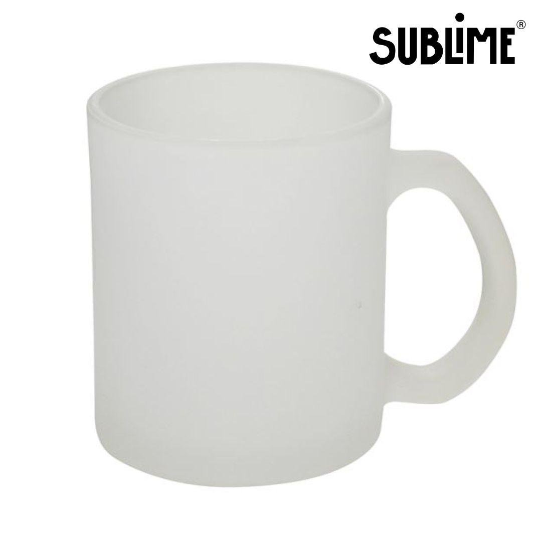 Caneca de Vidro Jateada Para Sublimação - 320ml - Sublime
