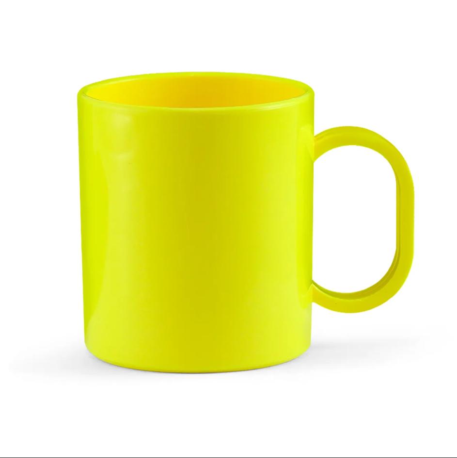 Caneca de Polímero Para Sublimação - Amarela - 325ml - SFCT
