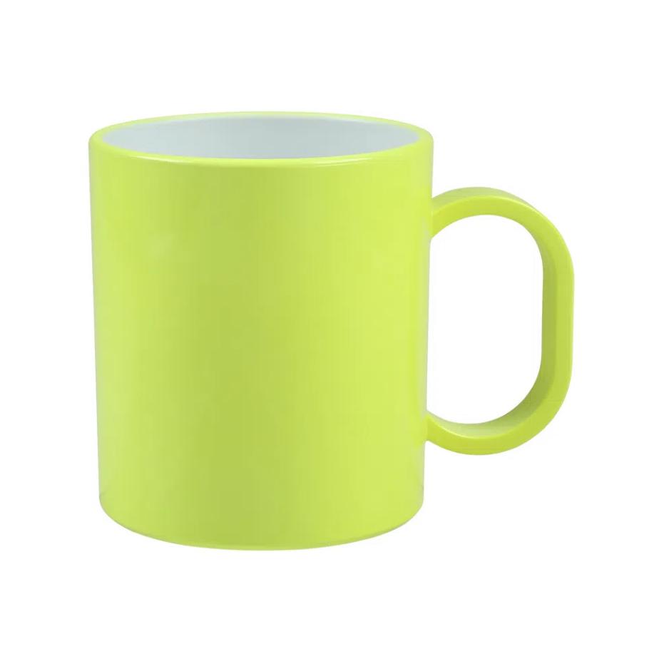 Caneca de Polímero Para Sublimação - Amarela Neon - SFCT