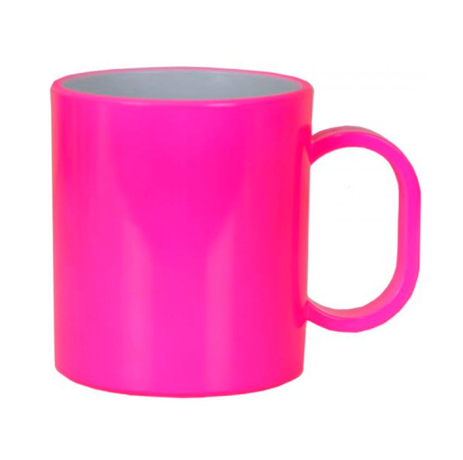 Caneca de Polímero Para Sublimação - Rosa Neon - 325ml - SFCT