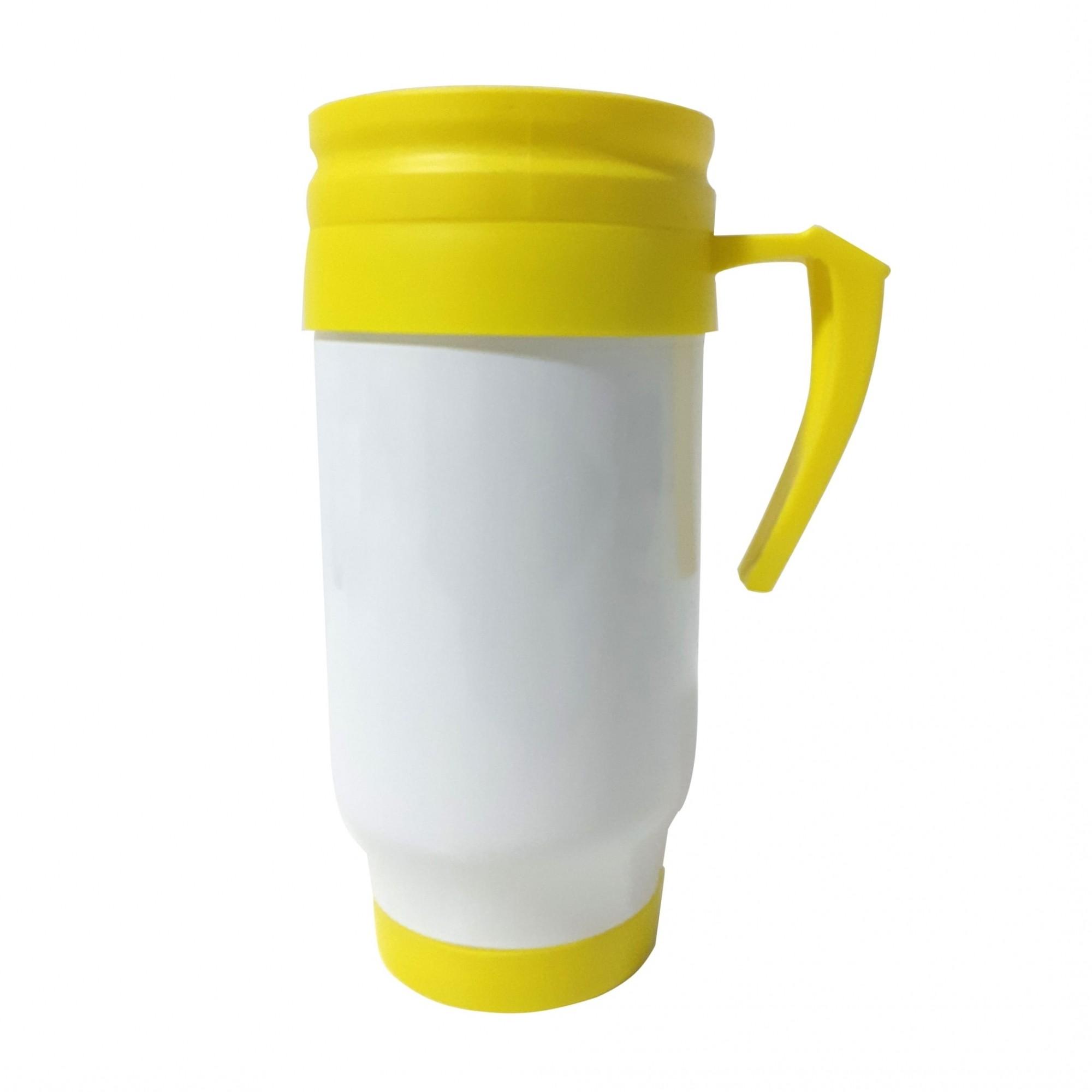 Caneca Térmica em Polímero Para Sublimação - Amarela - SFCT
