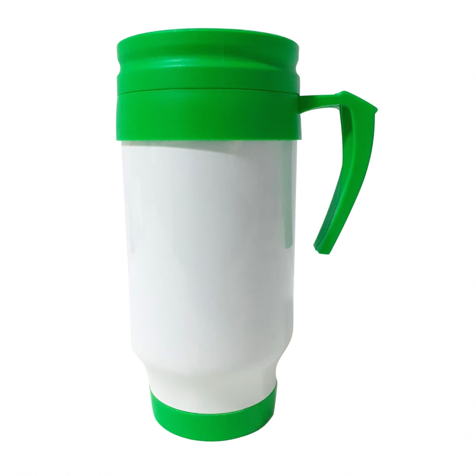 Caneca Térmica em Polímero Para Sublimação - Verde -SFCT