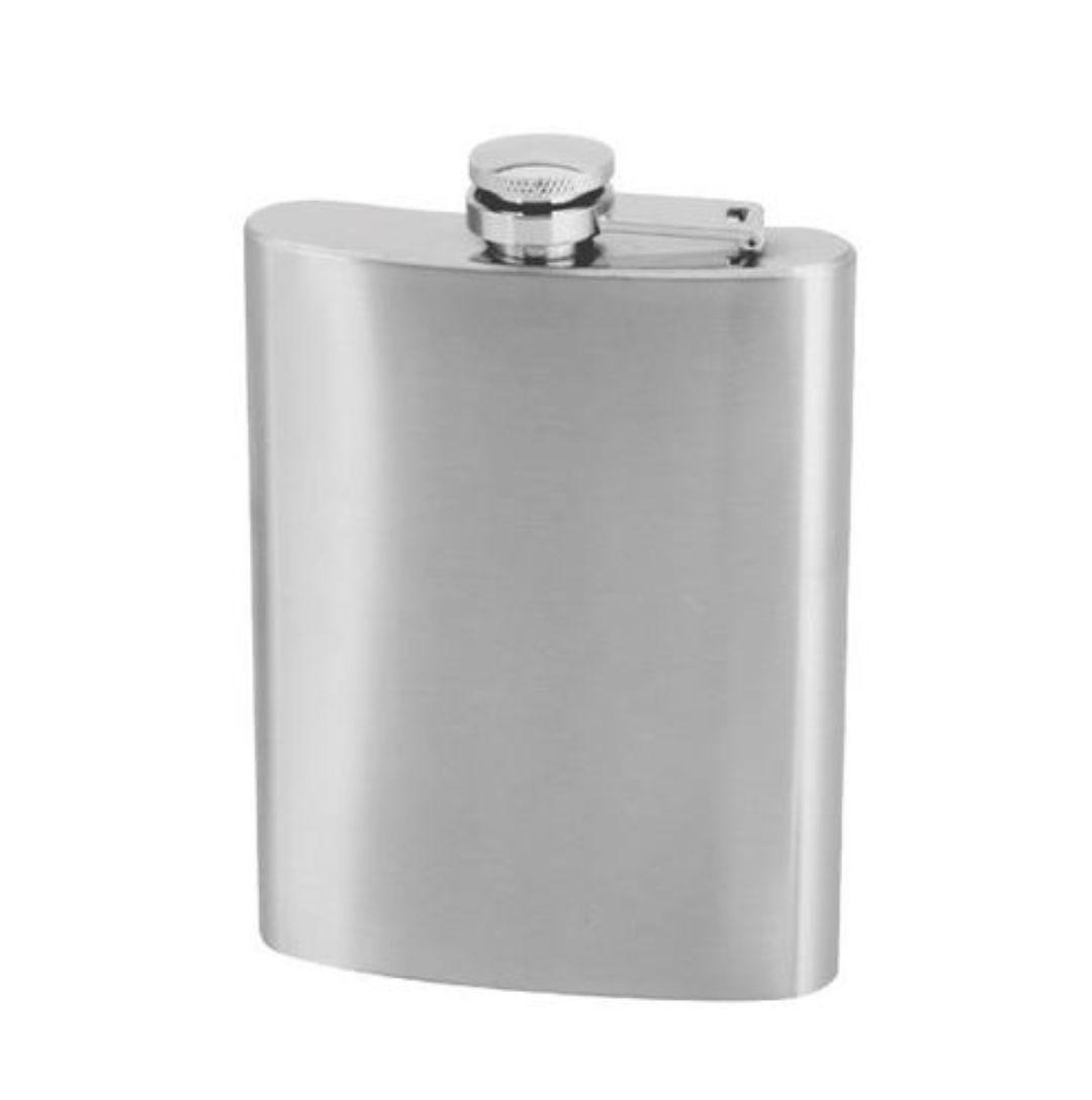 Cantil Porta Bebida de Bolso - 200ml - Inox - Whisky