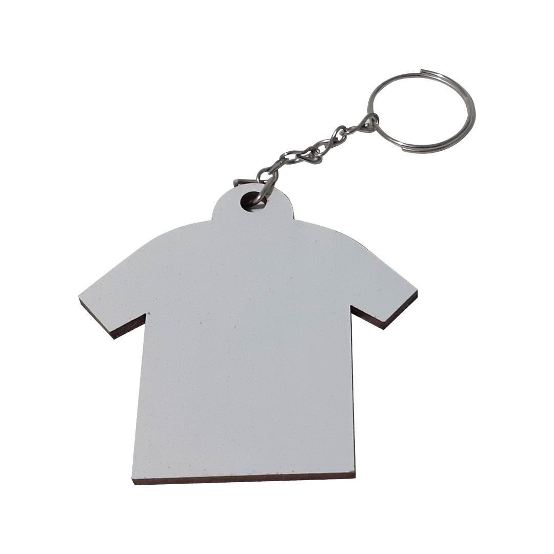 Chaveiro Camiseta em MDF Para Sublimação -  Pacote com 10 Unidades
