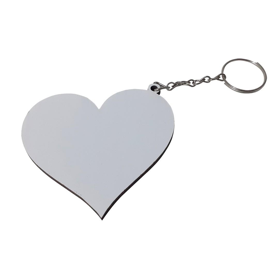 Chaveiro Coração em MDF Para Sublimação -  Pacote com 10 Unidades