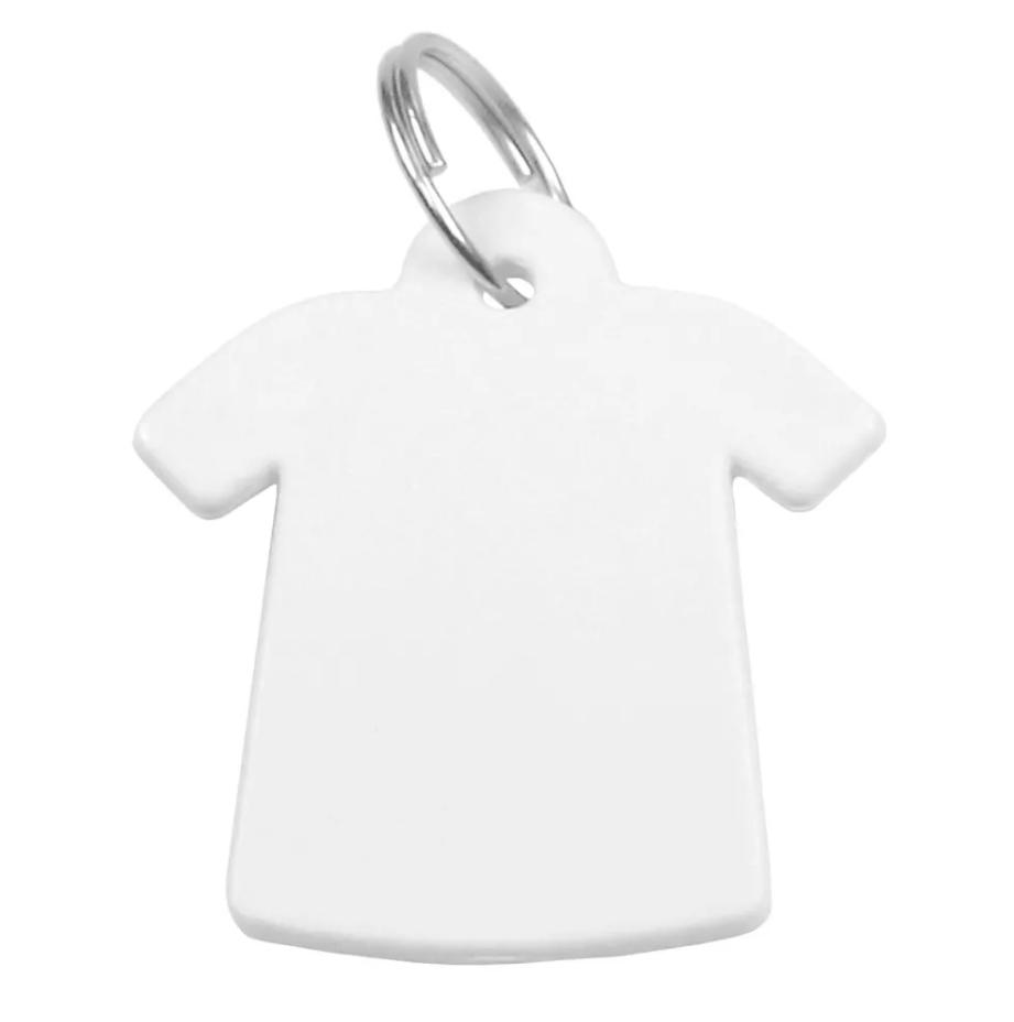 Chaveiro de Polímero Para Sublimação - Camiseta - Pacote com 10 Unidades