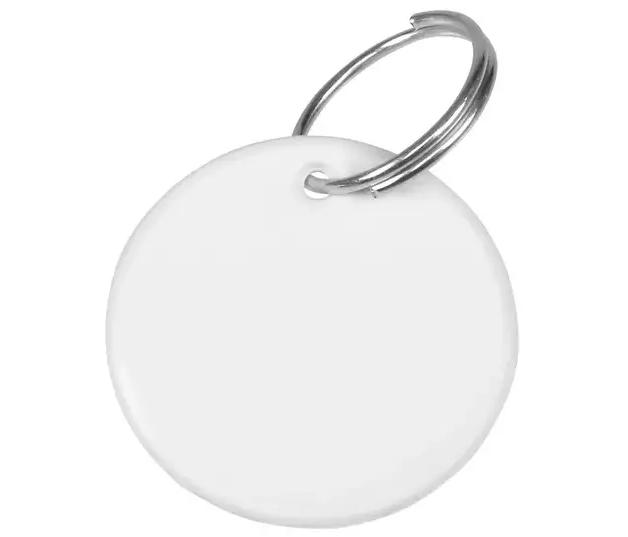 Chaveiro de Polímero Para Sublimação - Redondo - Pacote com 10 Unidades