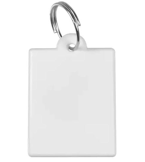 Chaveiro de Polímero Para Sublimação - Retangular - Pacote com 10 Unidades
