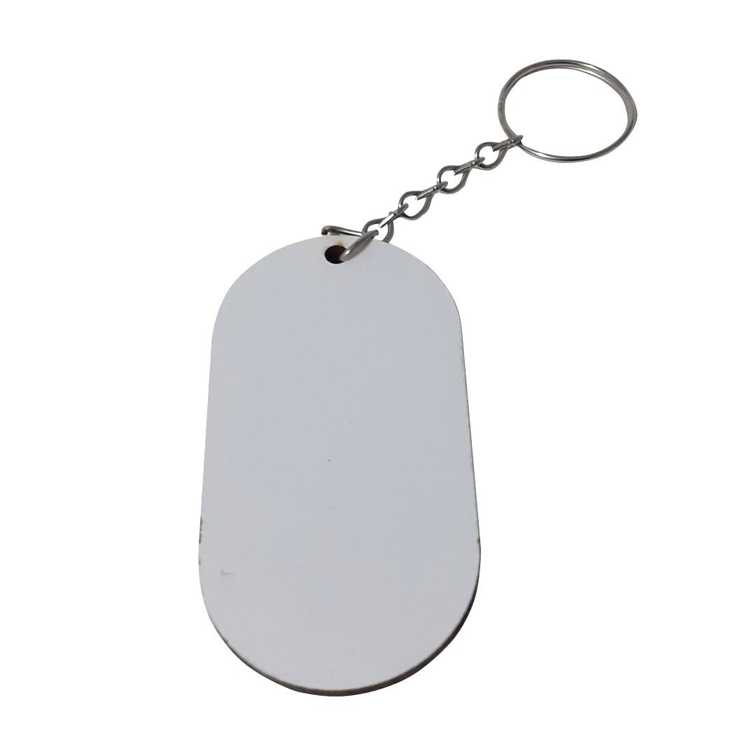 Chaveiro Tag em MDF Para Sublimação -  Pacote com 10 Unidades
