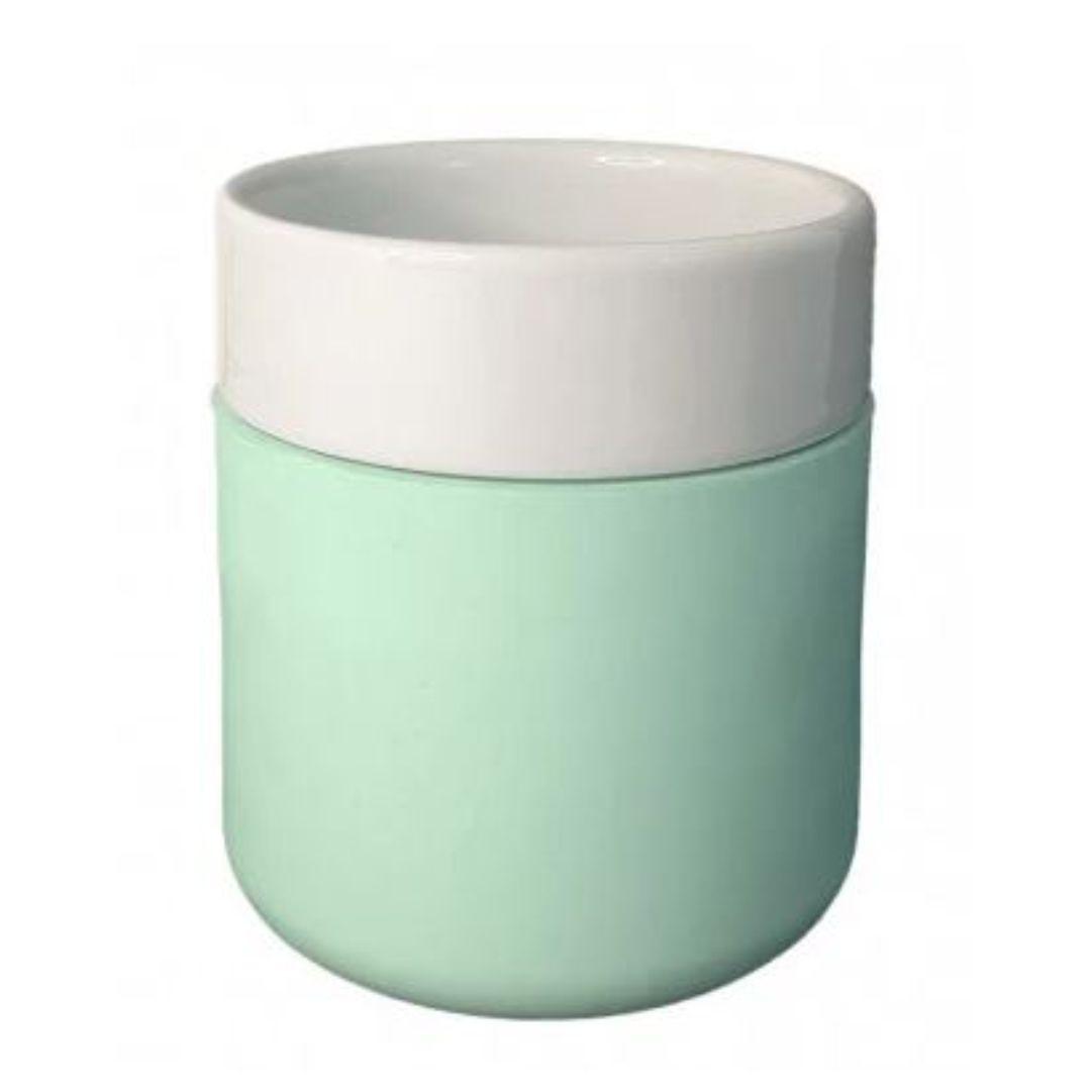 Copo De Cerâmica Sublimável C/ Capa De Silicone Azul - 260ml