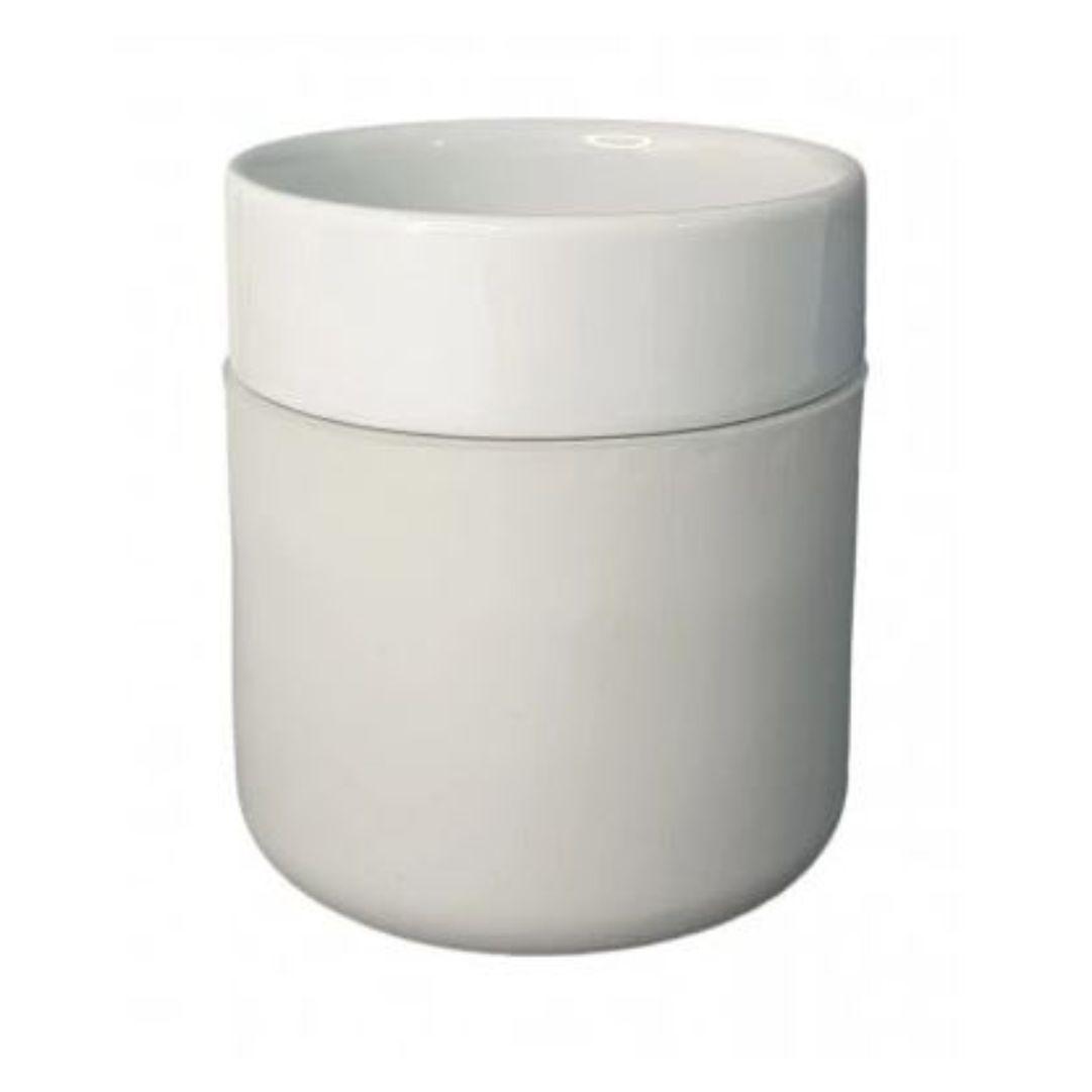 Copo De Cerâmica Sublimável C/ Capa De Silicone Cinza - 260ml
