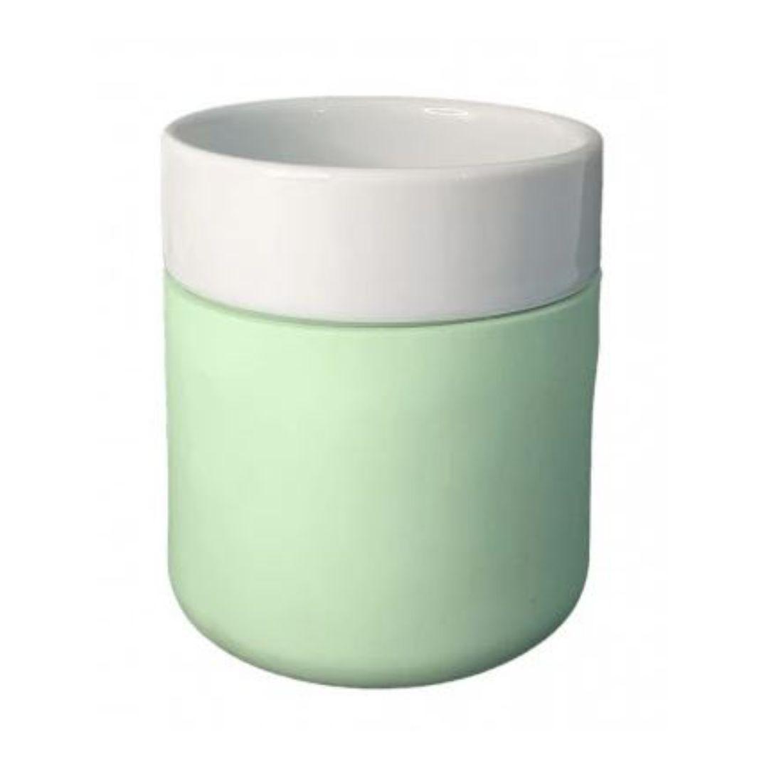 Copo De Cerâmica Sublimável C/ Capa De Silicone Verde - 260ml