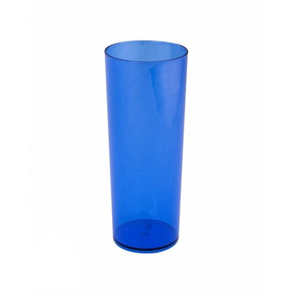 Copo Long Drink Azul Neon Translúcido