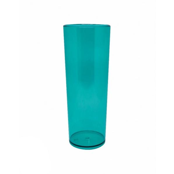 Copo Long Drink Azul Tiffany Neon Translúcido