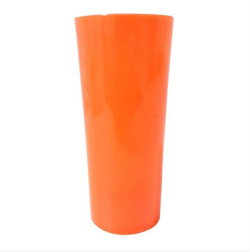 Copo Long Drink Laranja Fluorescente