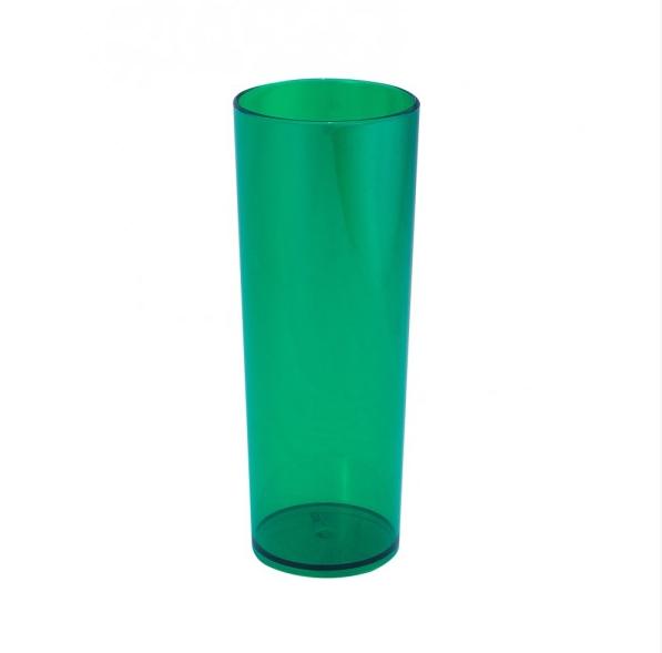 Copo Long Drink Verde Bandeira Neon Translúcido