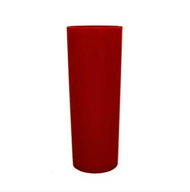 Copo Long Drink Vermelho Bordô