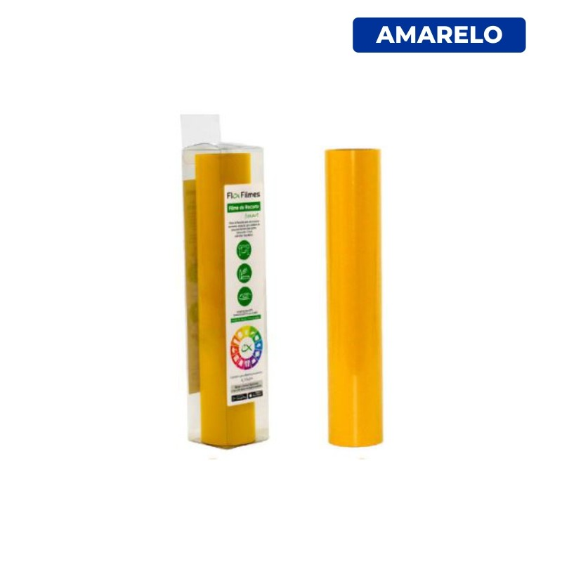 Filme de Recorte Flex Cut Smart Amarelo - Bobina 0,30x3m