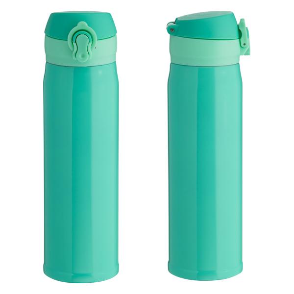 Garrafa Térmica Click Para Sublimação - Azul Tiffany - 400ml