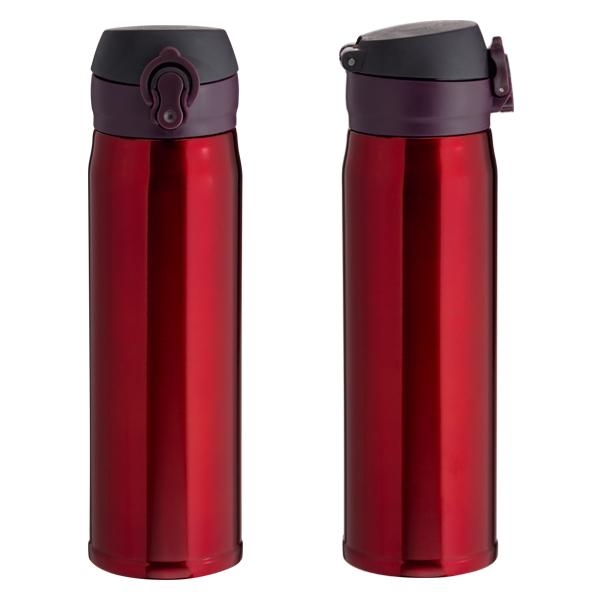 Garrafa Térmica Click Para Sublimação - Vermelha - 400ml
