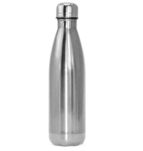 Garrafa Térmica de Inox Prata Para Sublimação -  Modelo Cola - 500ML