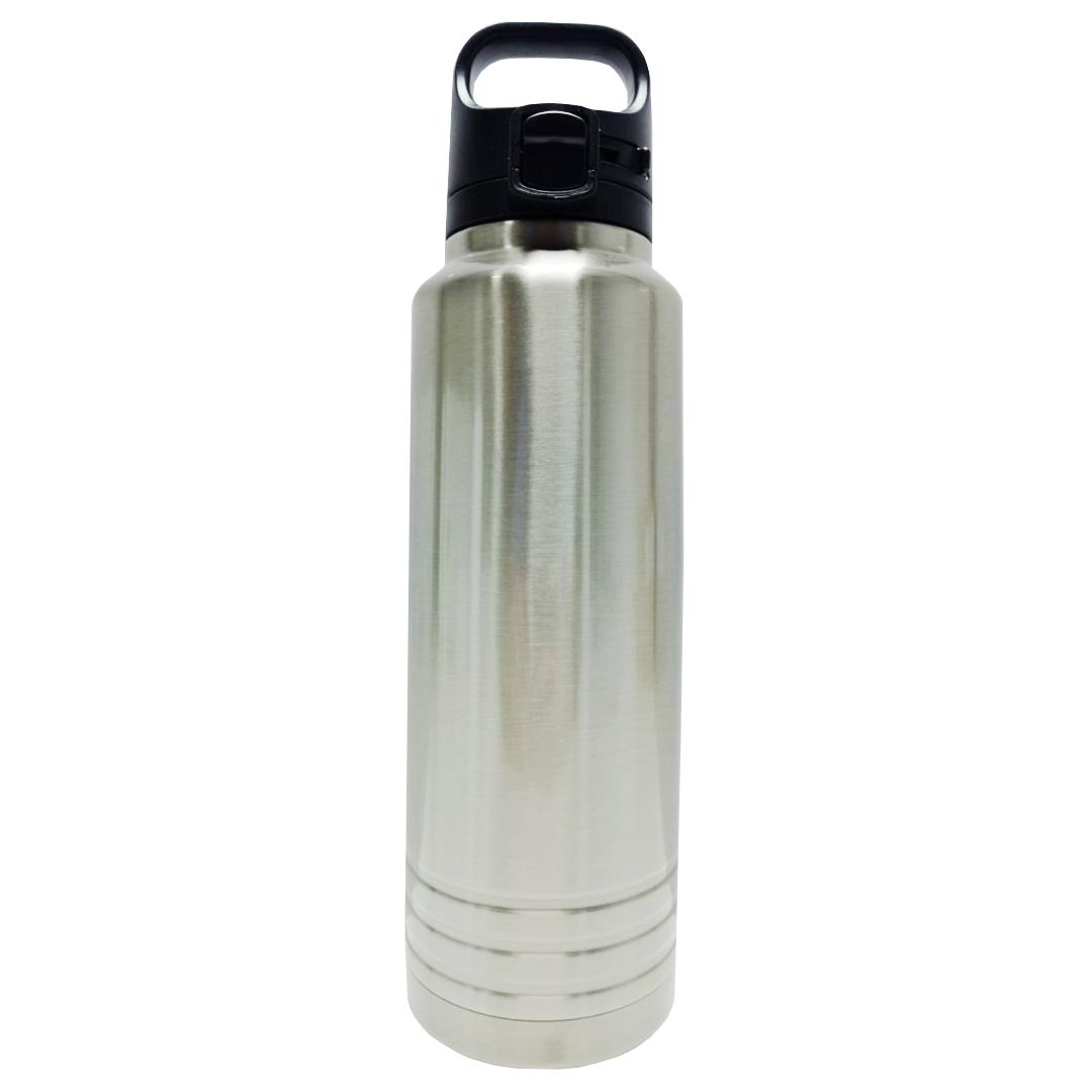 Garrafa Térmica para Sublimação Prata com Alça e Trava 600ml - Prokor