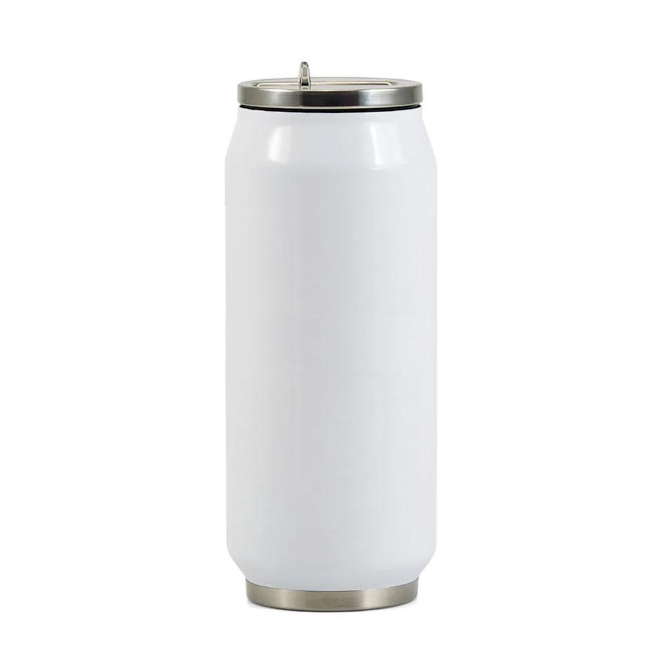 Lata Semi-Térmica de Inox com Parede Dupla Para Sublimação - Branca - 500ml