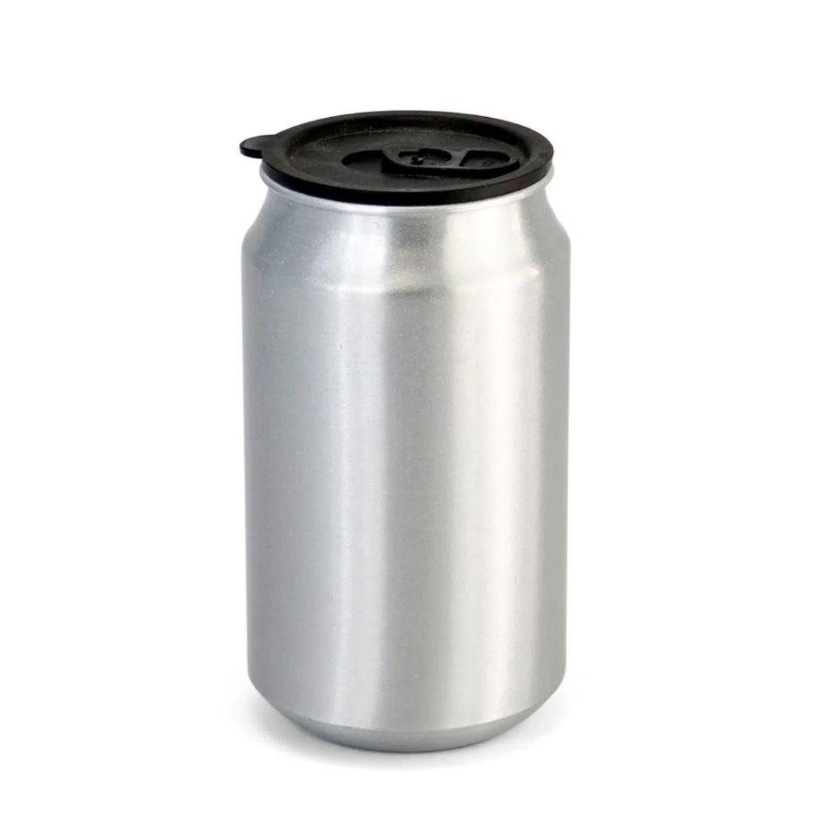 Latinha de Alumínio Para Sublimação - Prata - 350ml