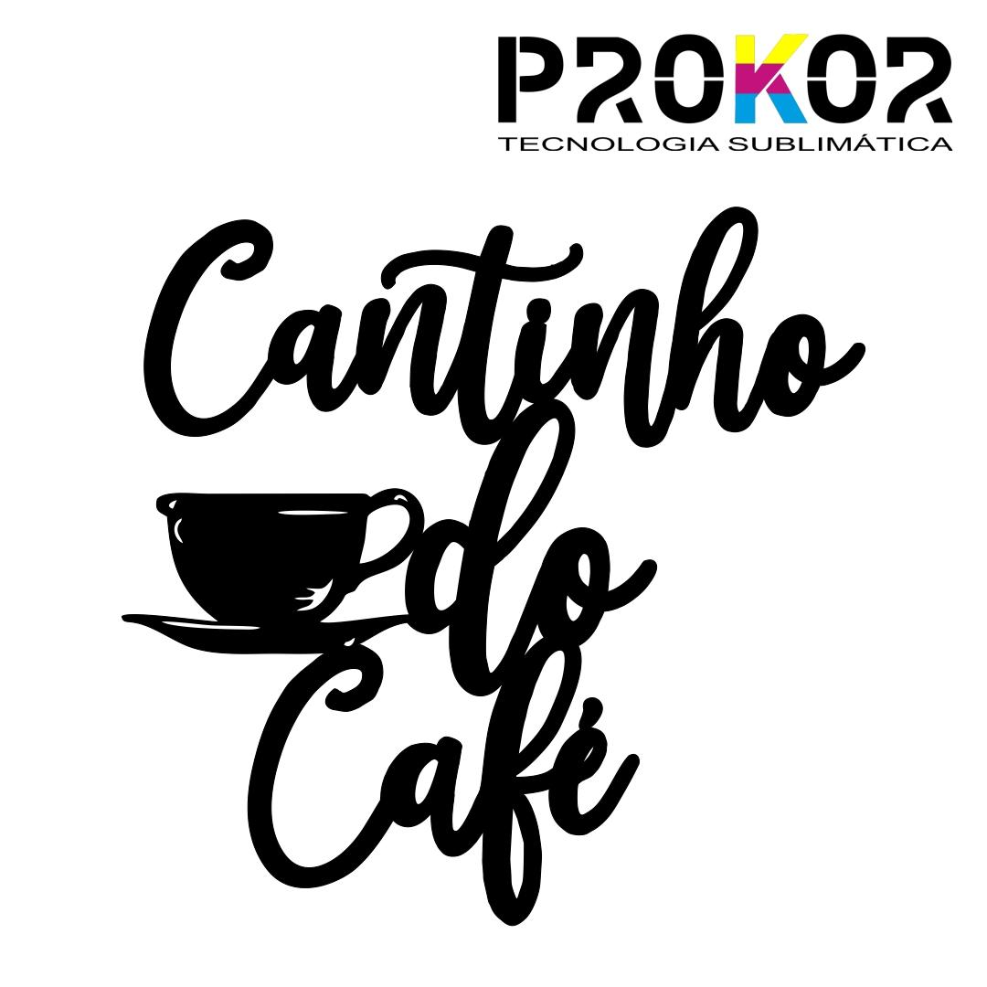 Letreiro Decorativo Cantinho do Café em MDF Preto