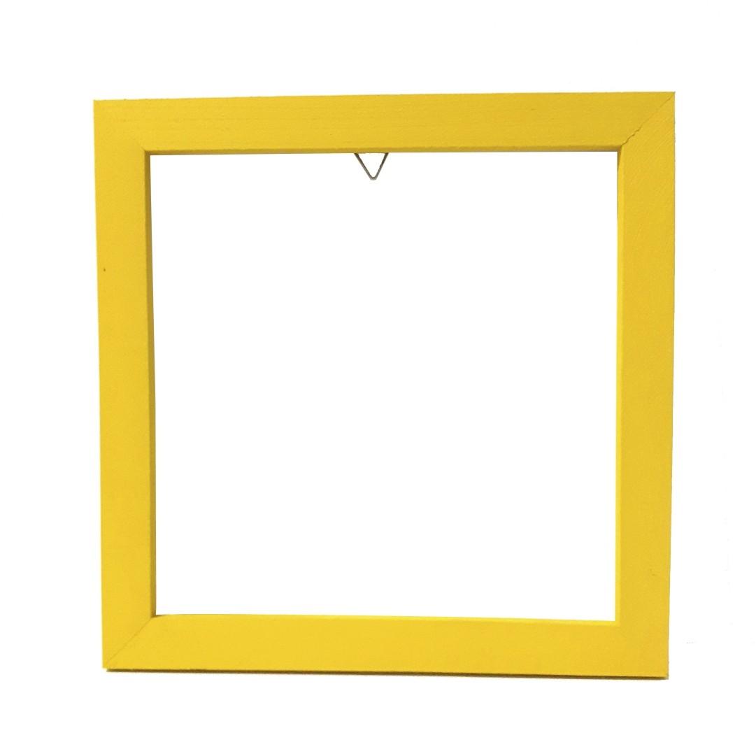 Moldura de Madeira 20x20 - Amarela