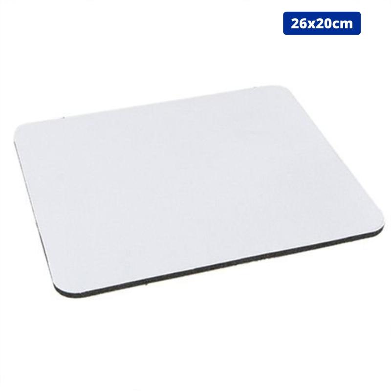 Mouse Pad Retangular Para Sublimação - 26x20cm - Pacote 2 (duas) unidades