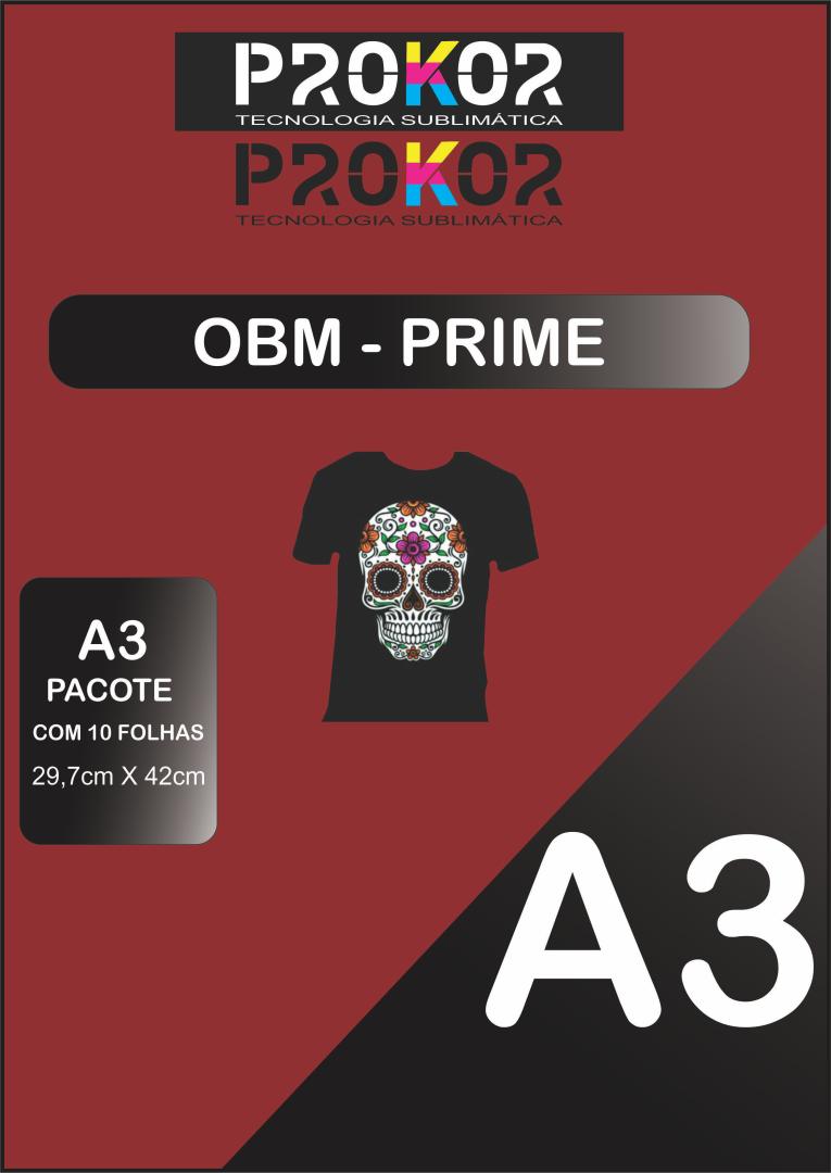 OBM Prime para Sublimação A3 - Pacote com 10 folhas